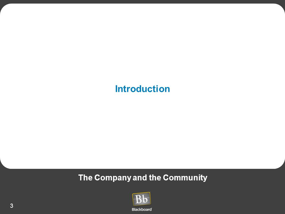 The Company and the Community