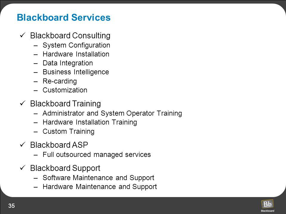 Blackboard Services Blackboard Consulting Blackboard Training