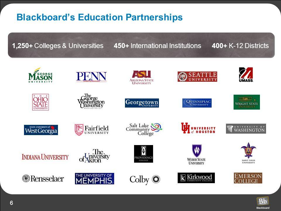 Blackboard's Education Partnerships