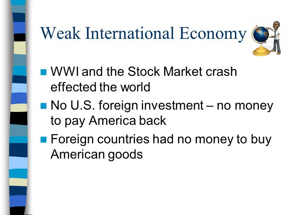 Weak International Economy