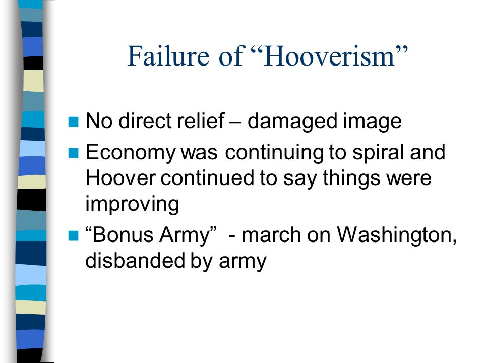 Failure of Hooverism