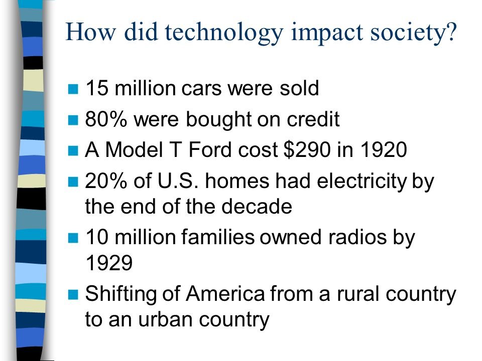 How did technology impact society