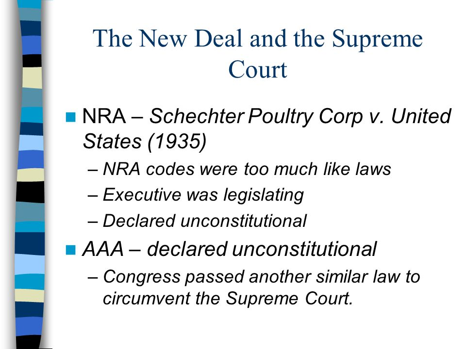 The New Deal and the Supreme Court