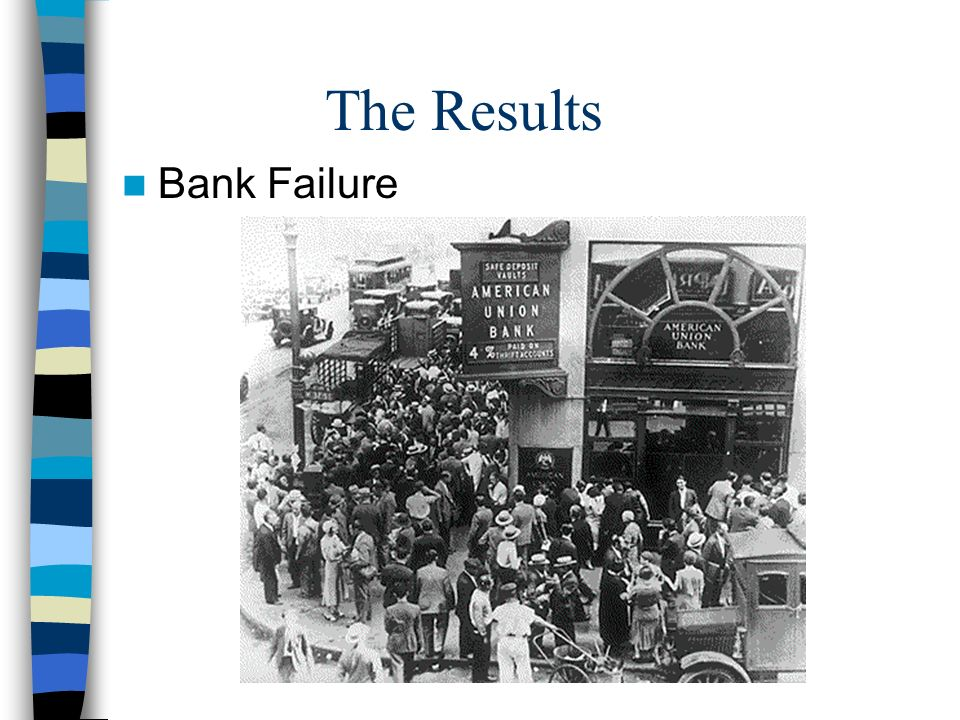 The Results Bank Failure