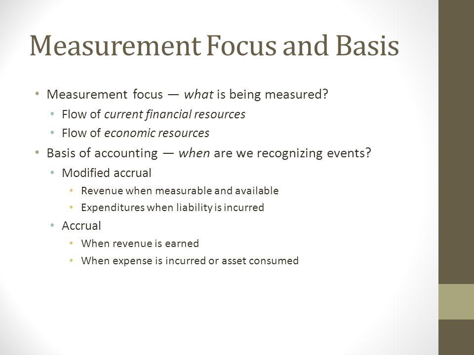 Measurement Focus and Basis