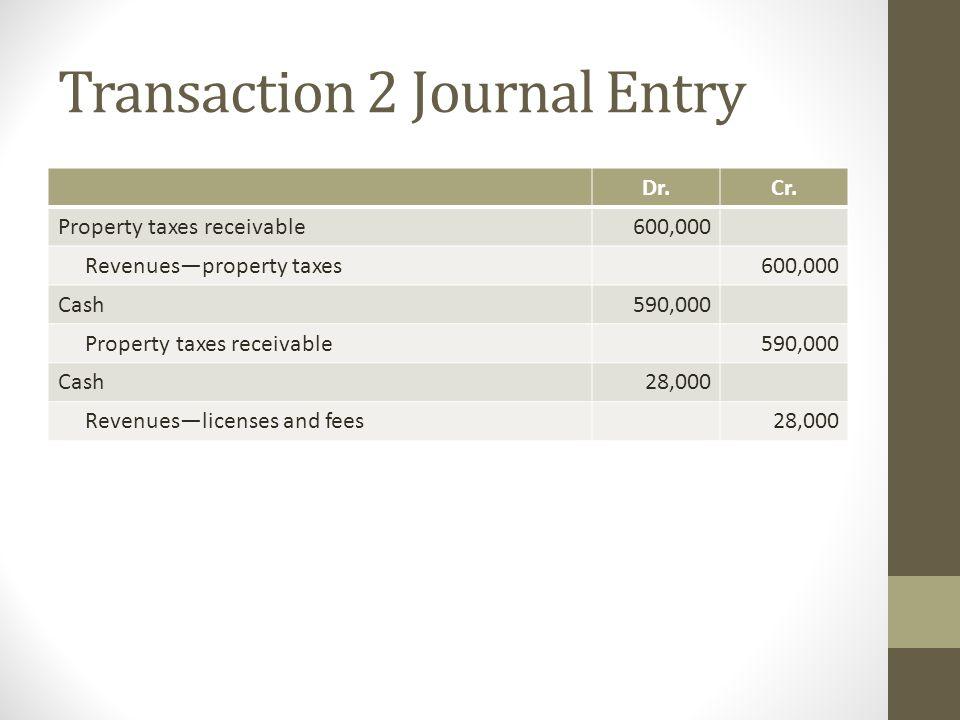 Transaction 2 Journal Entry