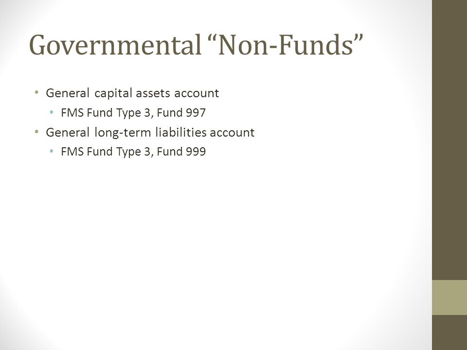 Governmental Non-Funds