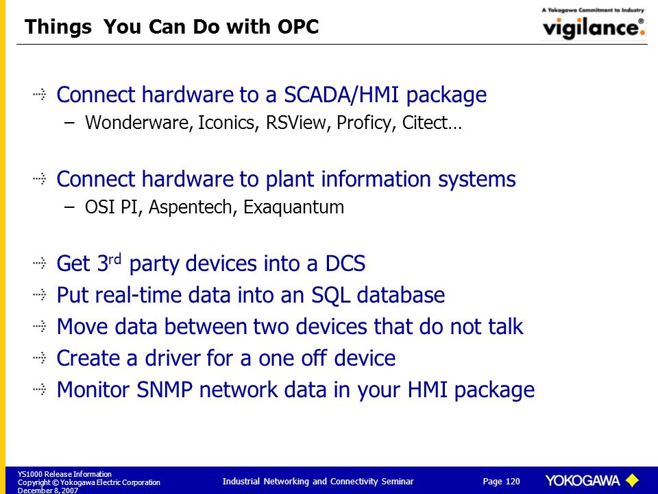 Things You Can Do with OPC