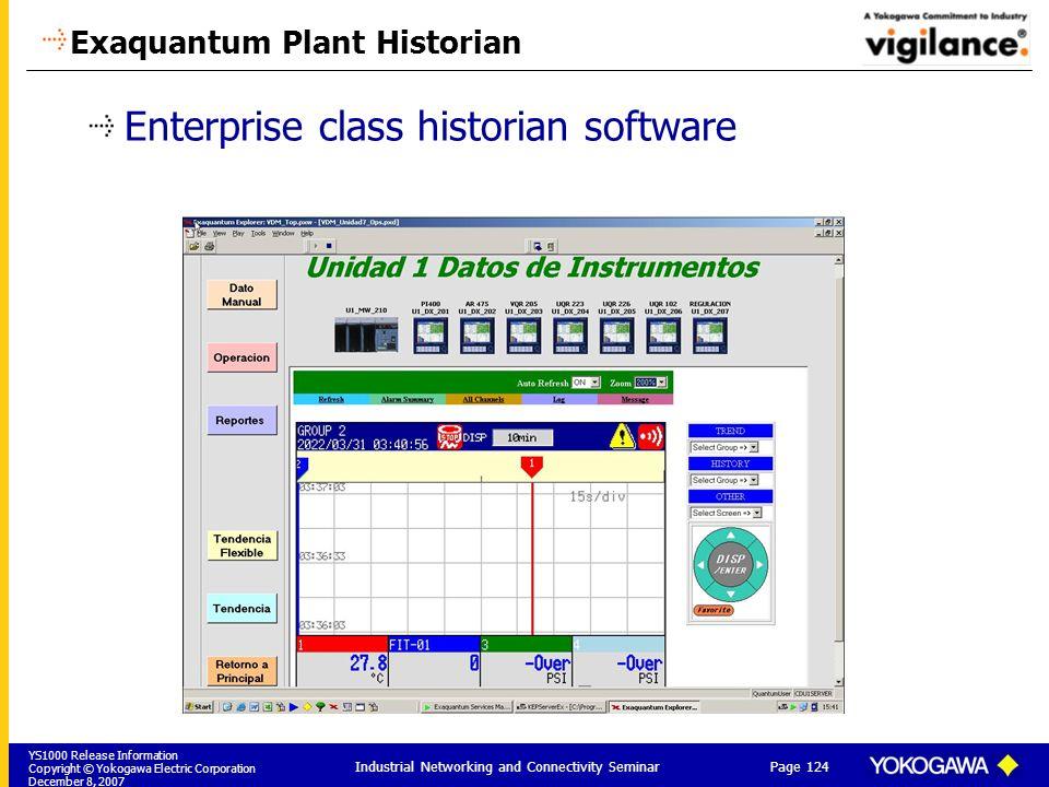 Exaquantum Plant Historian