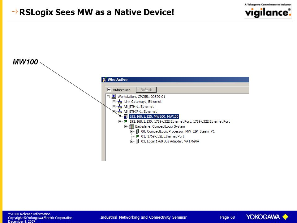 RSLogix Sees MW as a Native Device!