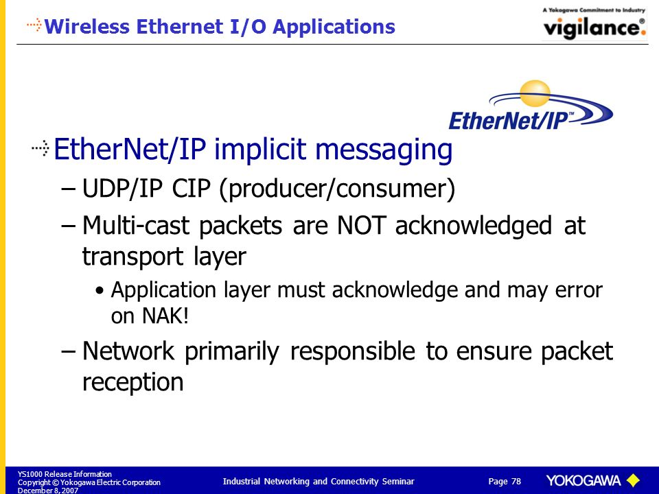 Wireless Ethernet I/O Applications