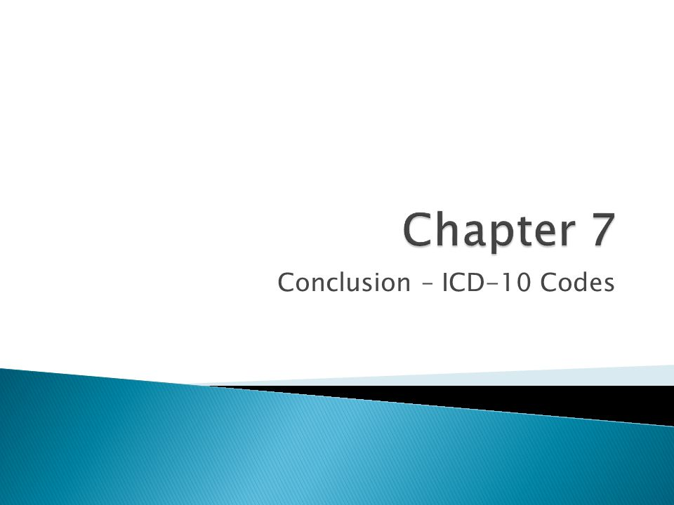 Conclusion – ICD-10 Codes
