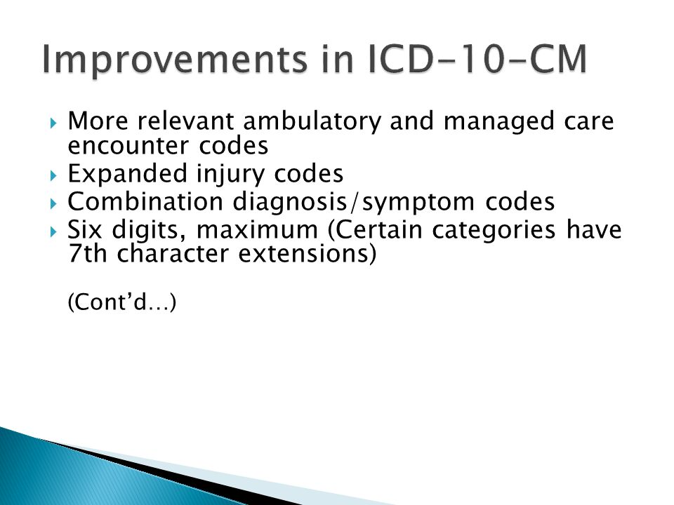Improvements in ICD-10-CM