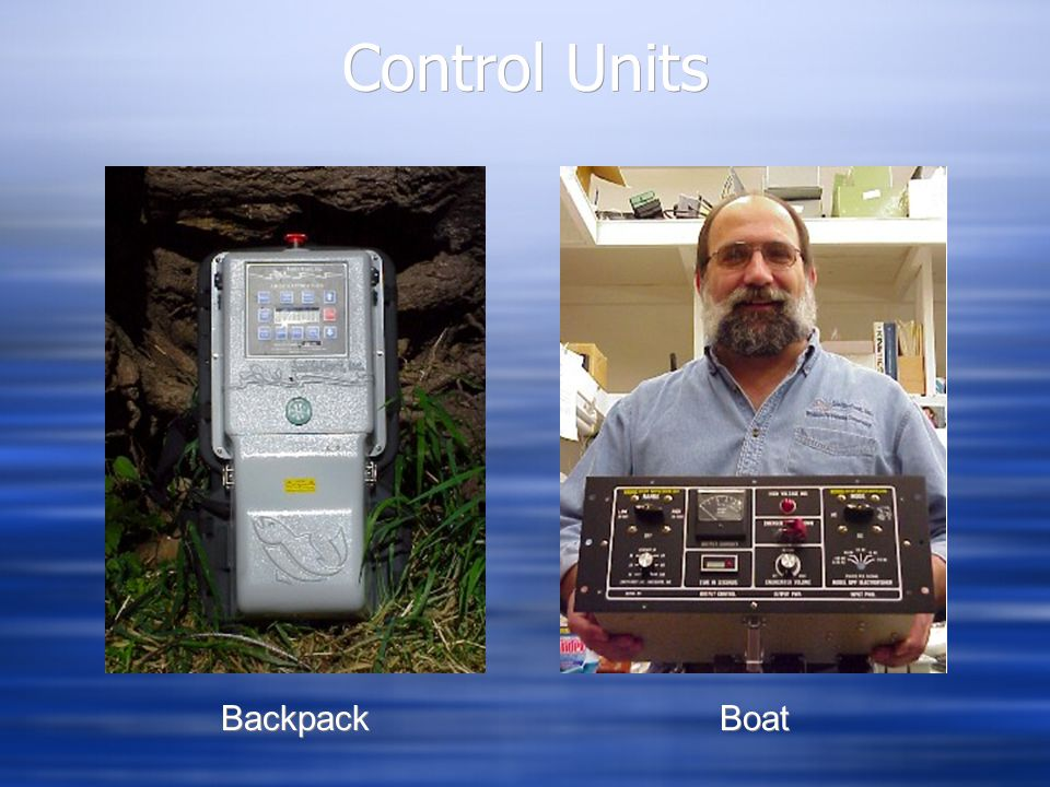 Control Units Backpack Boat