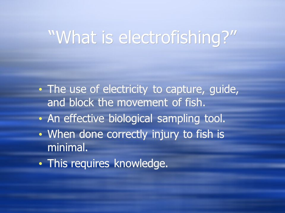 What is electrofishing