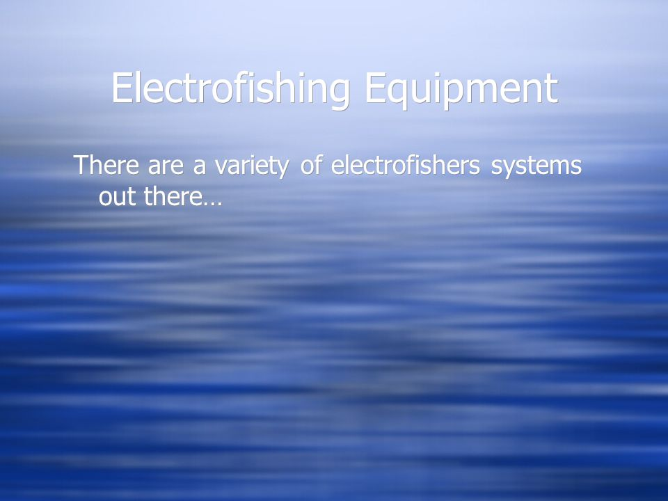 Electrofishing Equipment