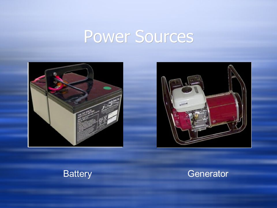 Power Sources Battery Generator