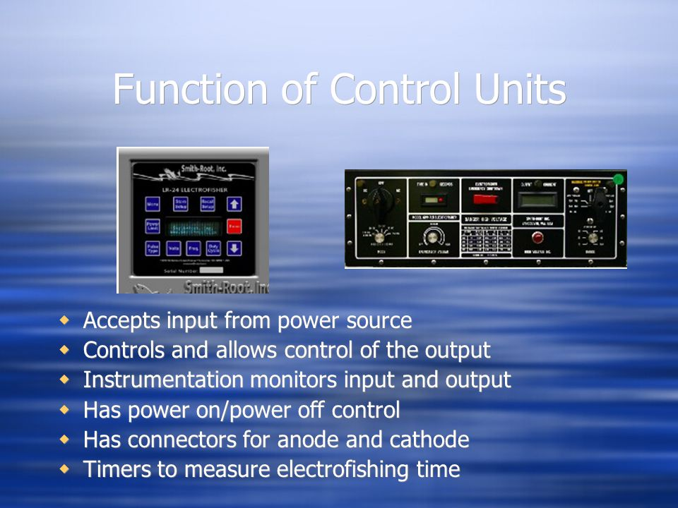 Function of Control Units