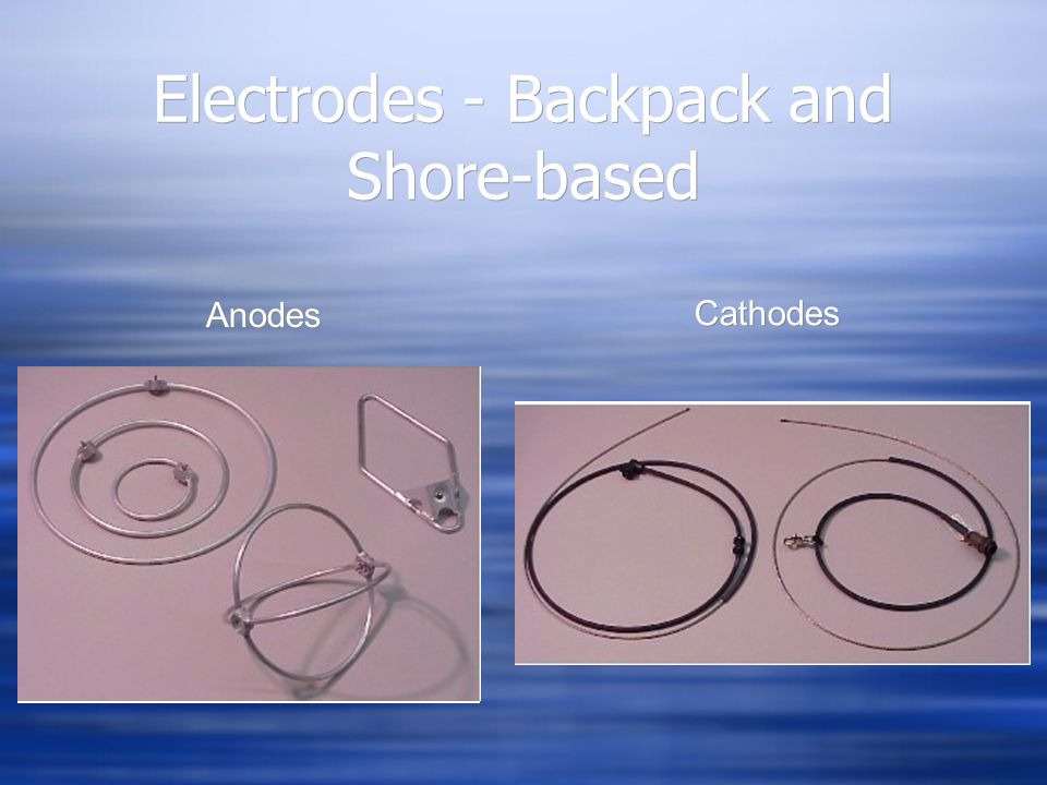 Electrodes - Backpack and Shore-based