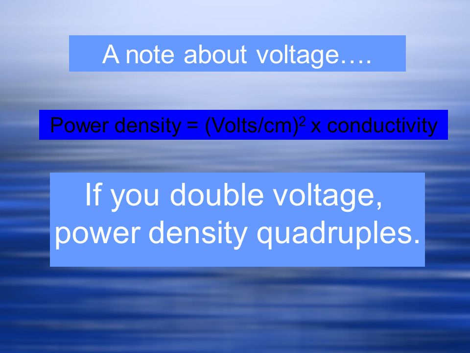power density quadruples.