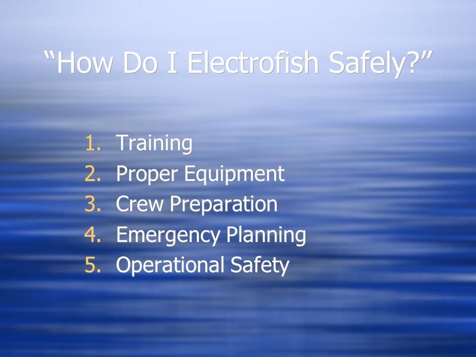 How Do I Electrofish Safely