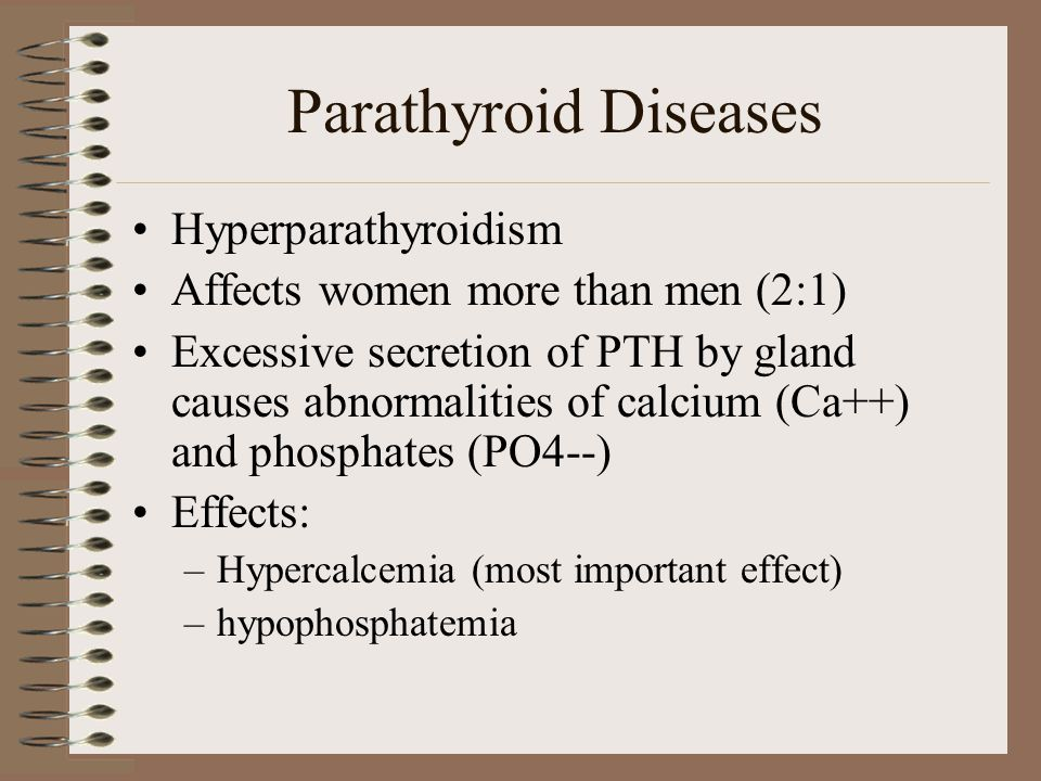 Parathyroid Diseases Hyperparathyroidism