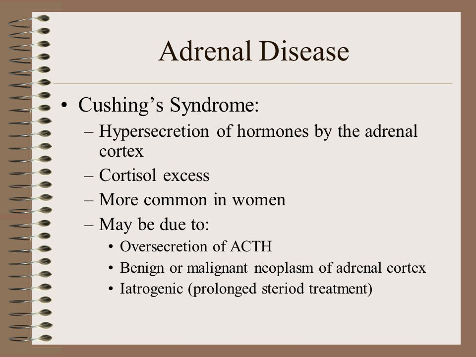 Adrenal Disease Cushing's Syndrome: