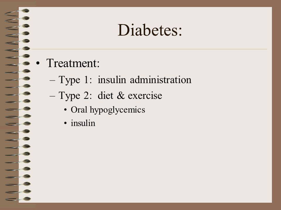 Diabetes: Treatment: Type 1: insulin administration