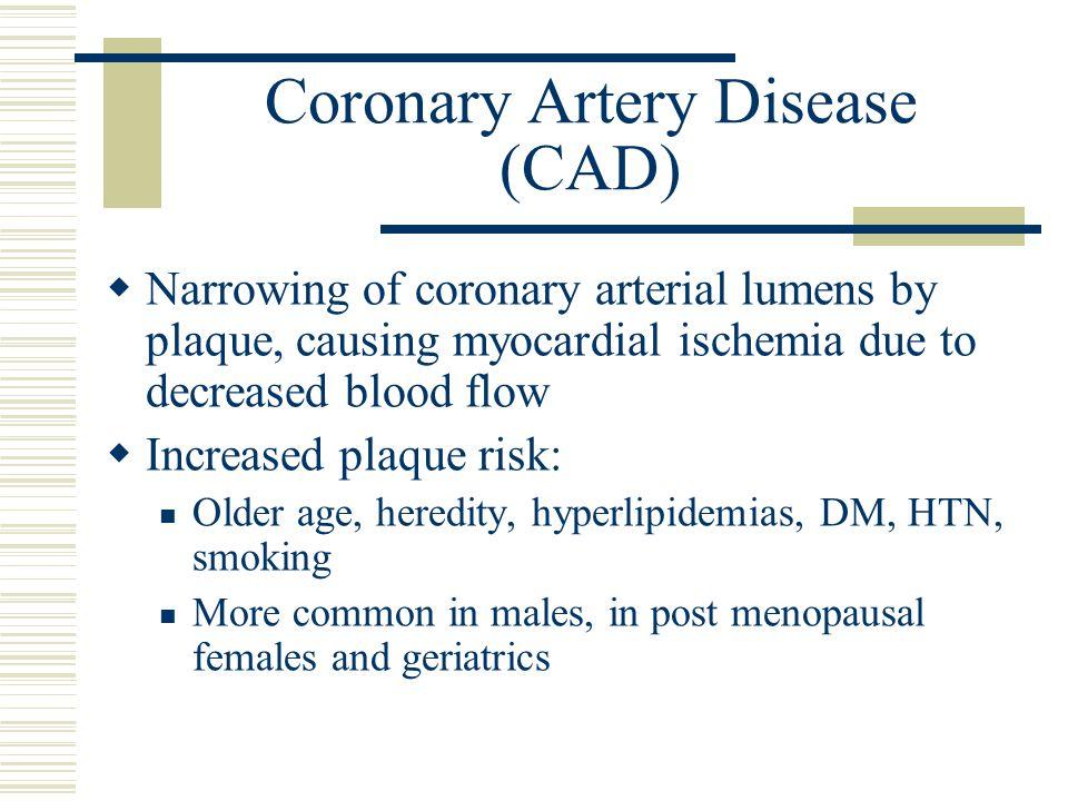 Coronary Artery Disease (CAD)