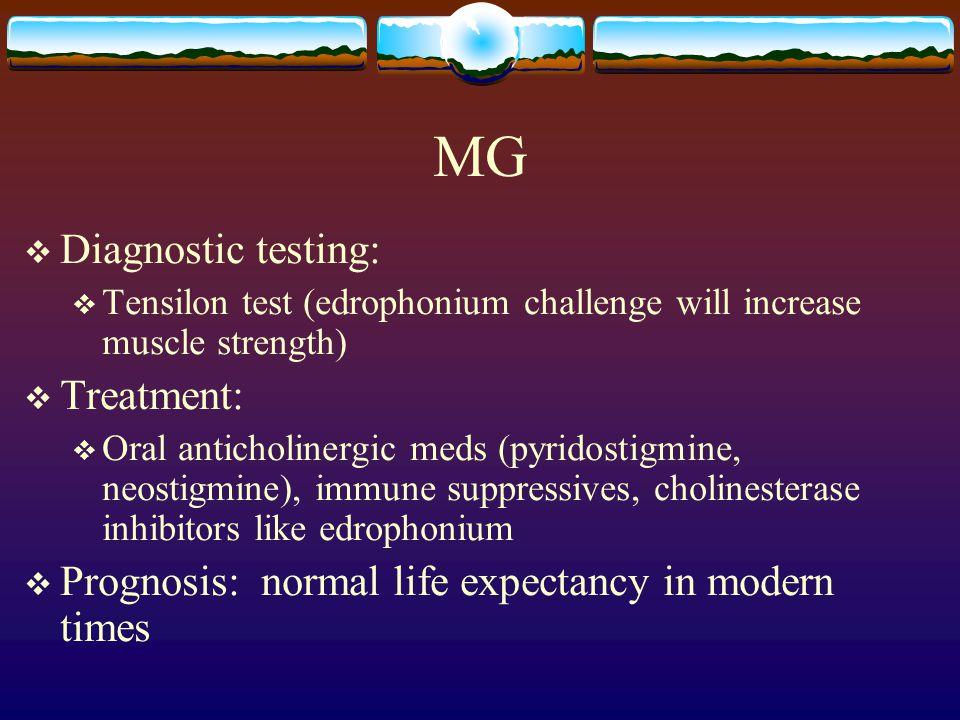 MG Diagnostic testing: Treatment:
