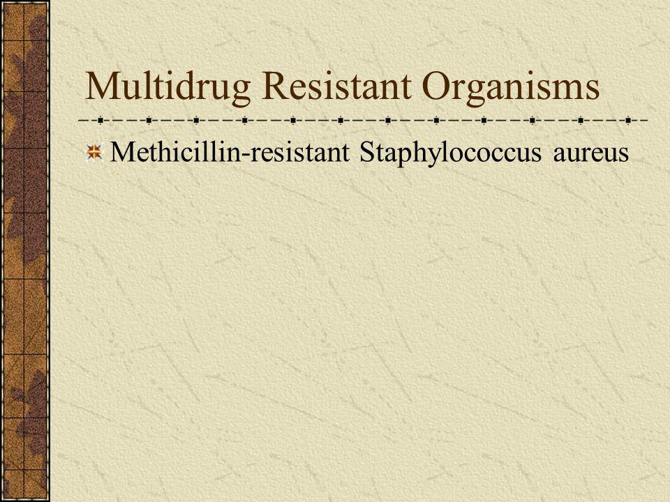 Multidrug Resistant Organisms