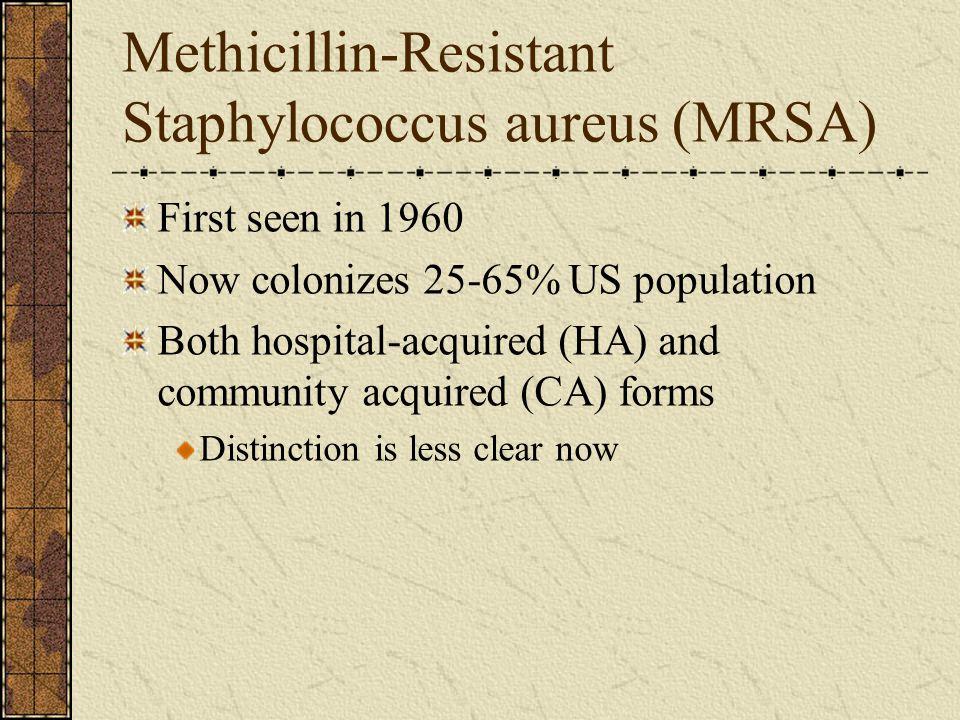 Methicillin-Resistant Staphylococcus aureus (MRSA)