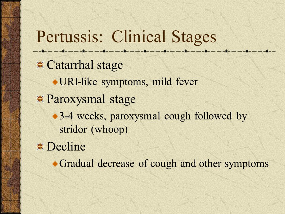 Pertussis: Clinical Stages