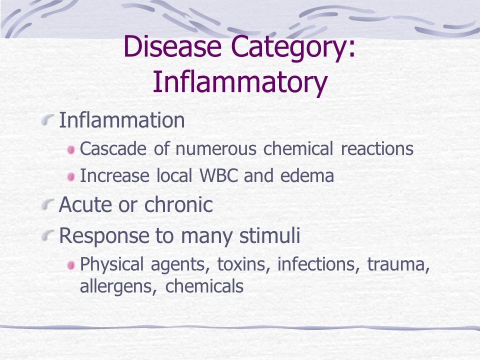 Disease Category: Inflammatory