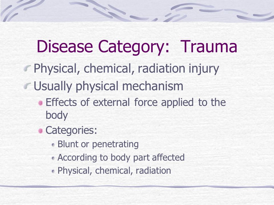 Disease Category: Trauma
