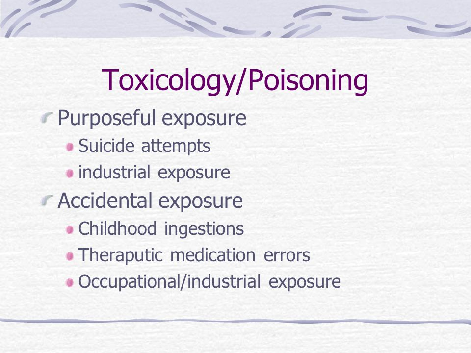 Toxicology/Poisoning