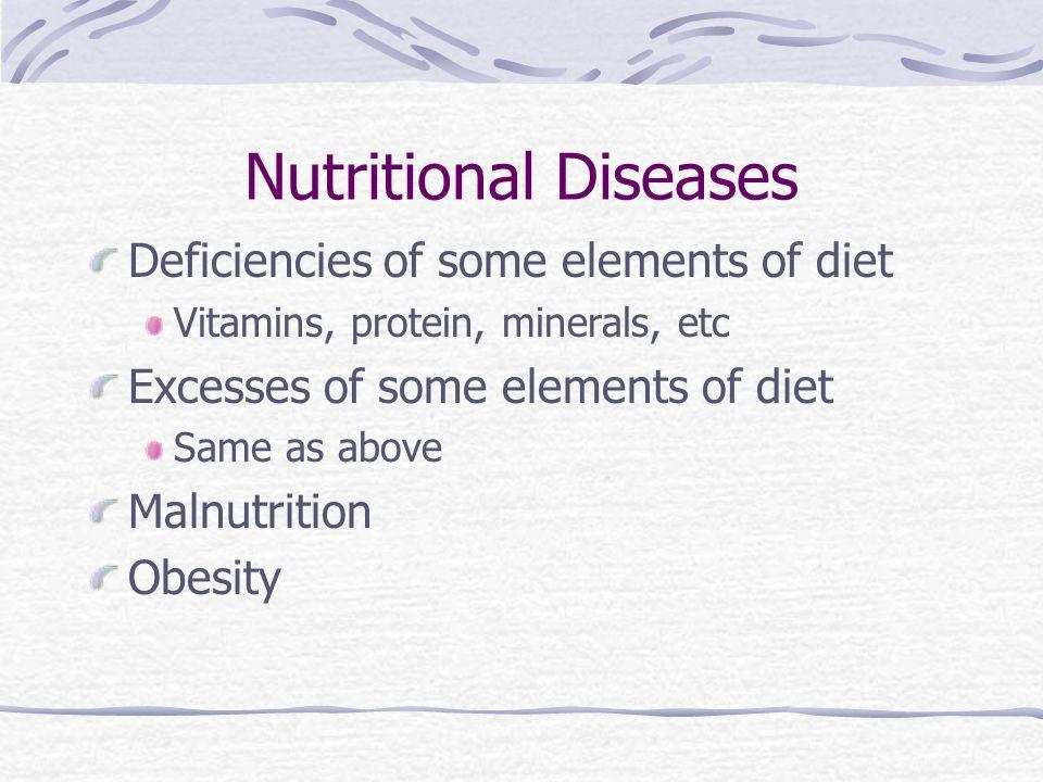 Nutritional Diseases Deficiencies of some elements of diet