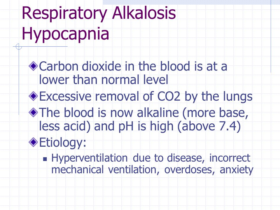 Respiratory Alkalosis Hypocapnia