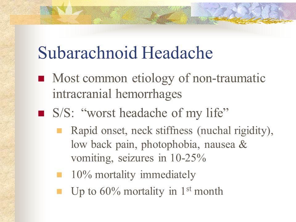 Subarachnoid Headache