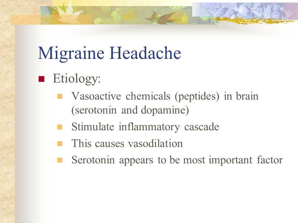 Migraine Headache Etiology: