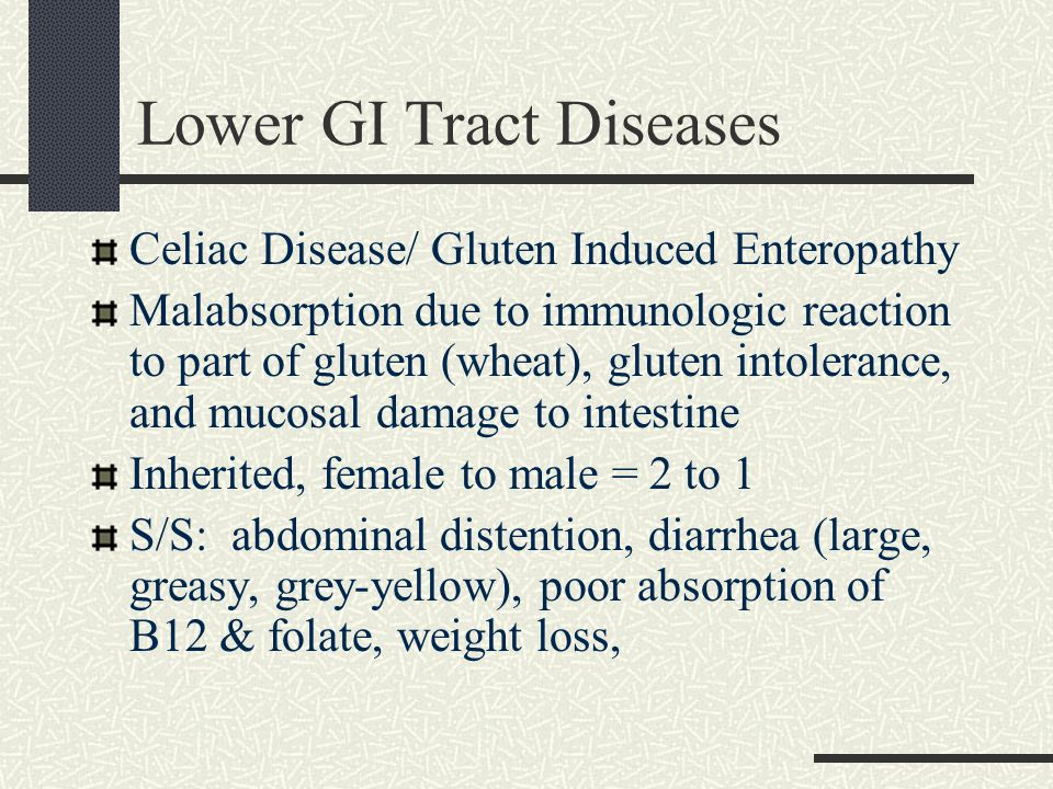 Lower GI Tract Diseases