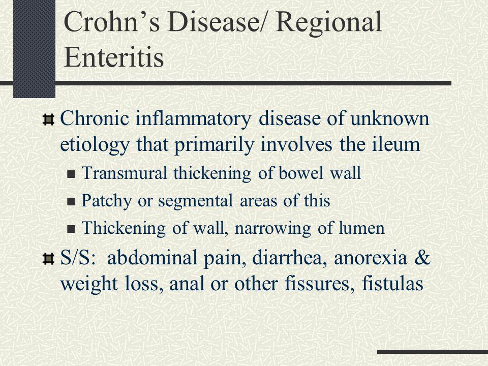 Crohn's Disease/ Regional Enteritis