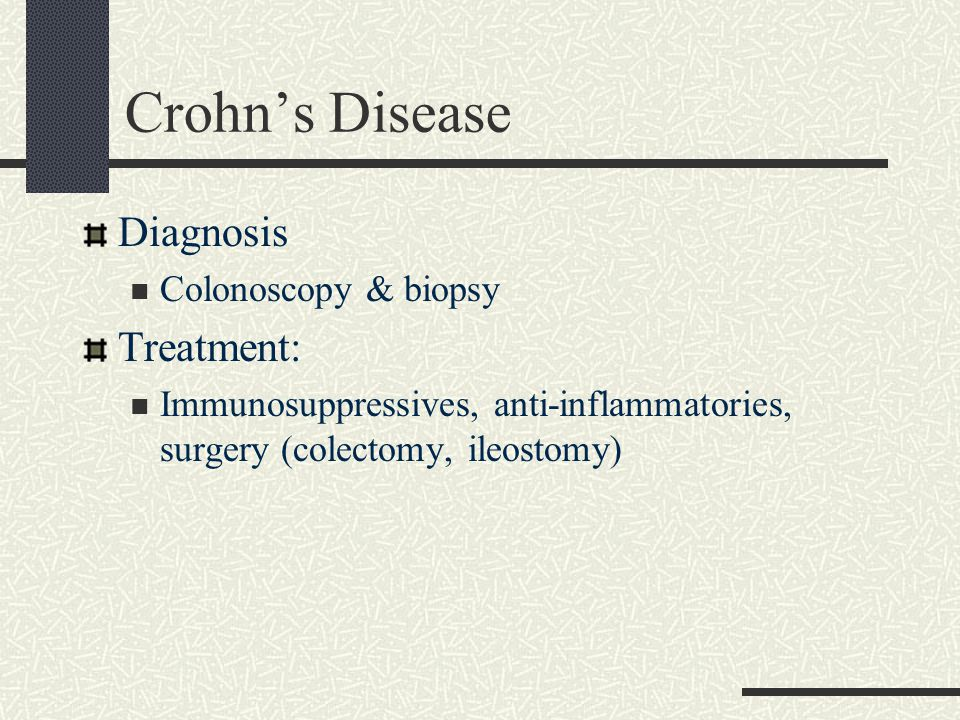 Crohn's Disease Diagnosis Treatment: Colonoscopy & biopsy