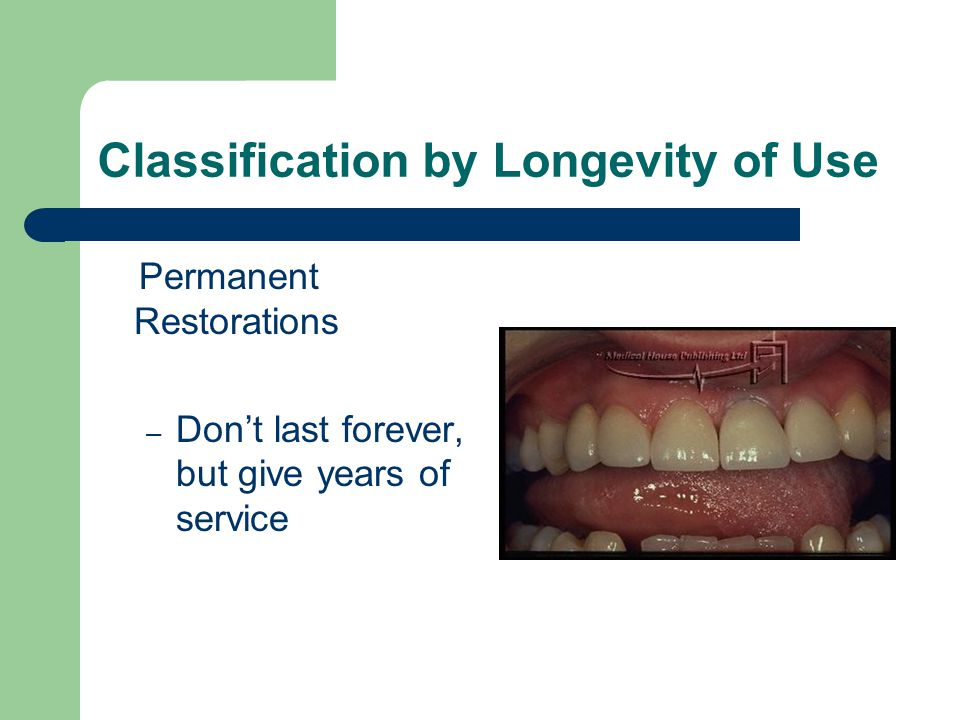 Classification by Longevity of Use