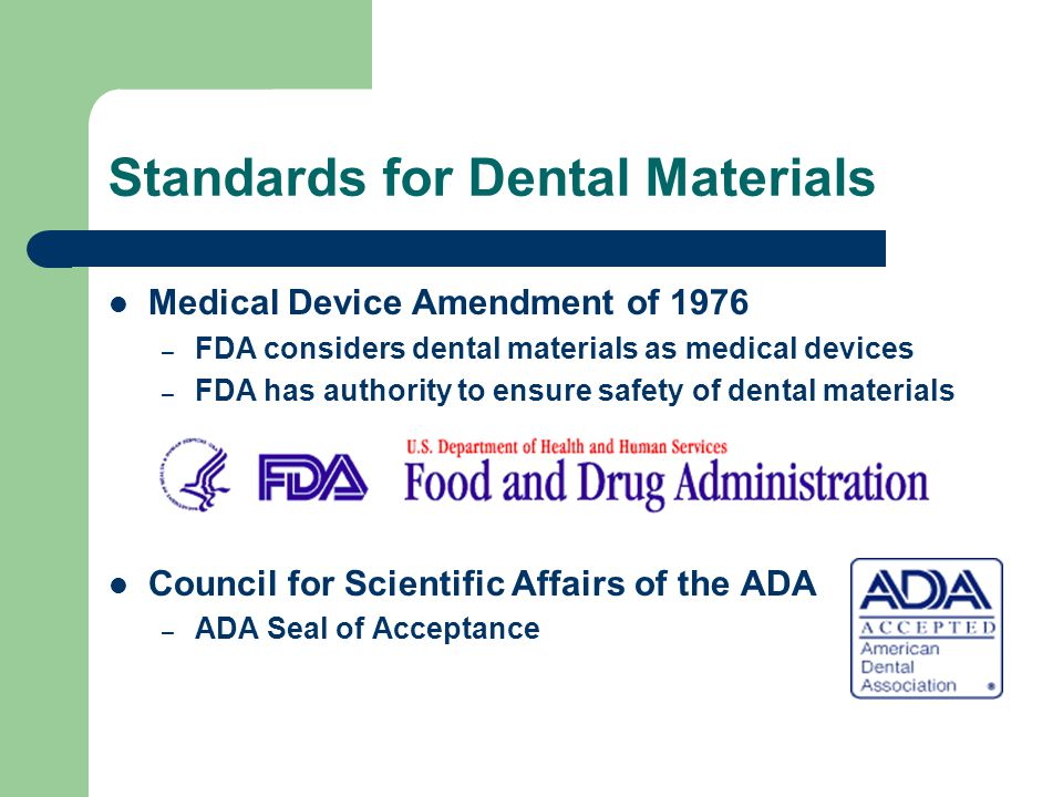 Standards for Dental Materials