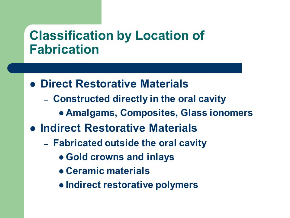 Classification by Location of Fabrication