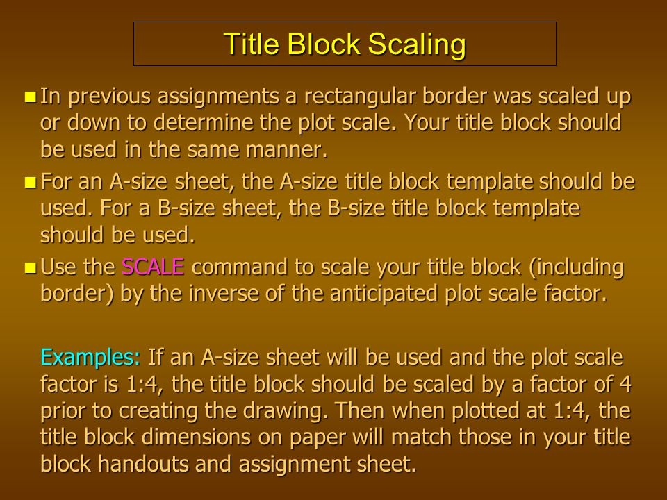 Title Block Scaling