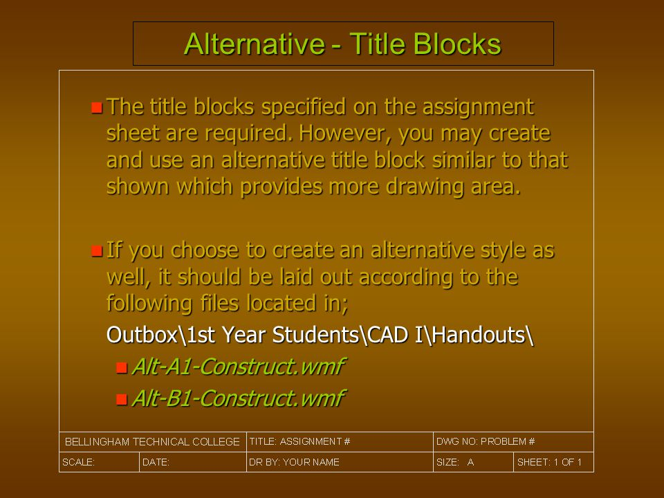 Alternative - Title Blocks