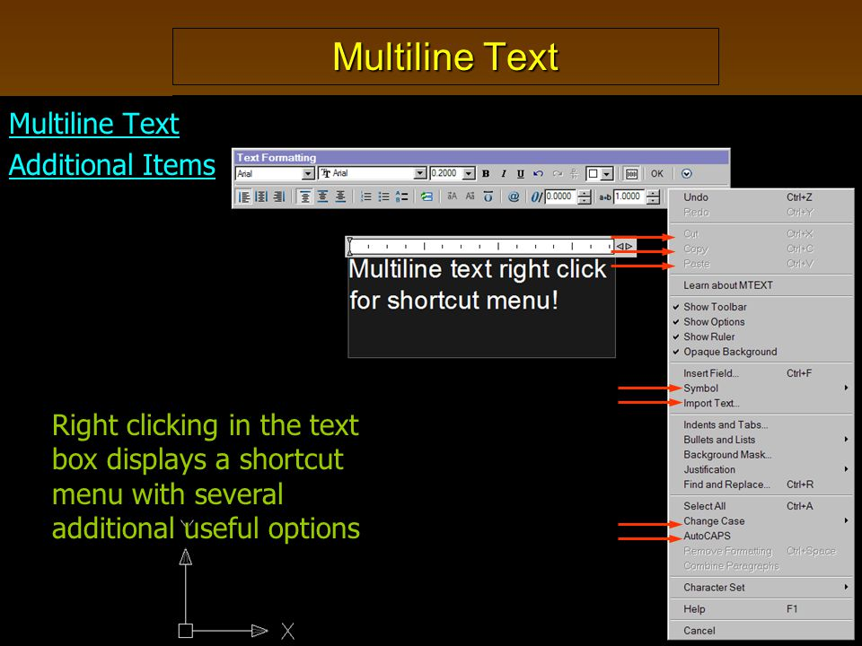 Multiline Text Multiline Text Additional Items