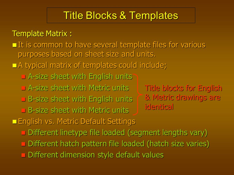 Title Blocks & Templates